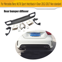 PP Rear Bumper Lip Diffuser Car Muffler Exhaust For Mercedes Benz 2014 2015 A260 To A45