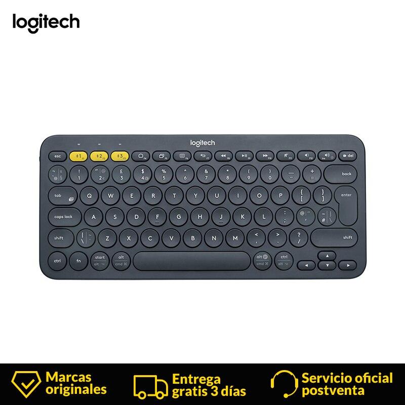 Logitech K380 Mini Spanish Wireless keyboard  2.4Ghz gamer bluetooth keyboard For Notebook Laptop Mac Desktop PC TV Office