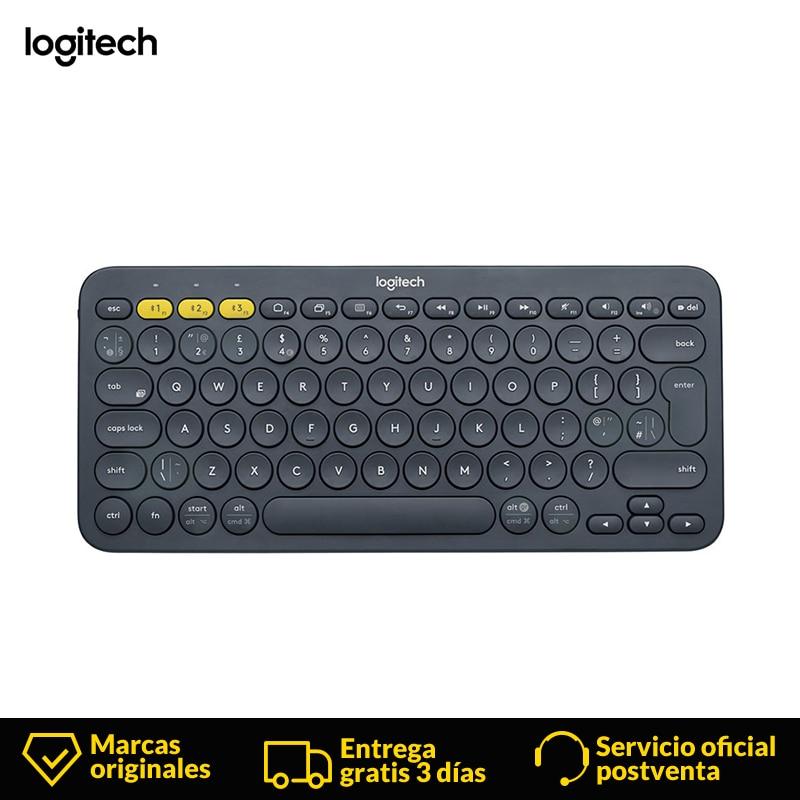 Logitech K380 Mini clavier espagnol sans fil 2.4 Ghz gamer clavier bluetooth pour ordinateur portable ordinateur portable Mac ordinateur de bureau TV bureau