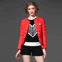 Новое 2015 женщин зимы 90% утка пуховик мода женские ультра-легкие пуховики с длинным рукавом теплая зима парки пальто