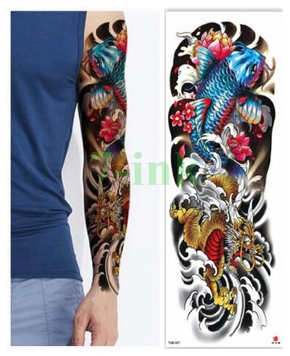 Gambar Tato Di Tangan : gambar, tangan, Waterproof, Tattoos, Sticker, Dragon, Flower, Goldfish, Tattoo, Water, Transfer, Flash, Tatoo, Women|Temporary, Tattoos|, AliExpress