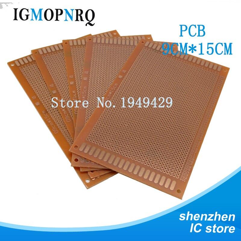 2pcs DIY Prototype Paper PCB Universal Experiment Matrix Circuit Board 9x15cm