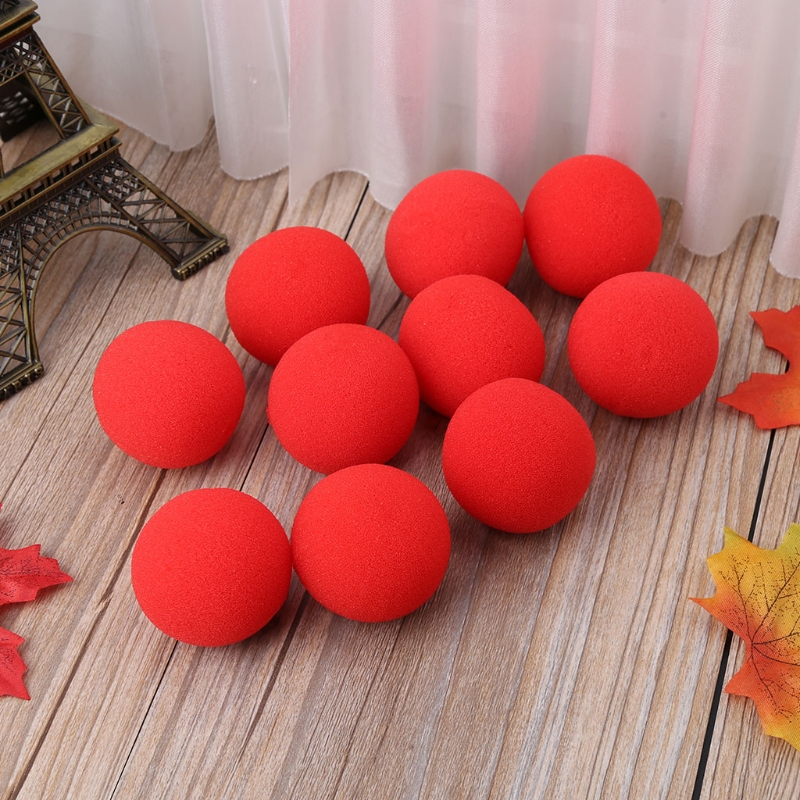 10PCS 4.5cm Finger Magic Tricks Props Sponge Balls CloseUP Street Classical Illusion Stage Comedy Tricks Magic Balls 2018 image