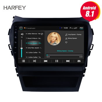 Harfey 9 inch HD Touchscreen Radio GPS Navi For 2013-2017 Hyundai IX45 SantaFe Rear camera Android 8.1 Car Multimedia Player image