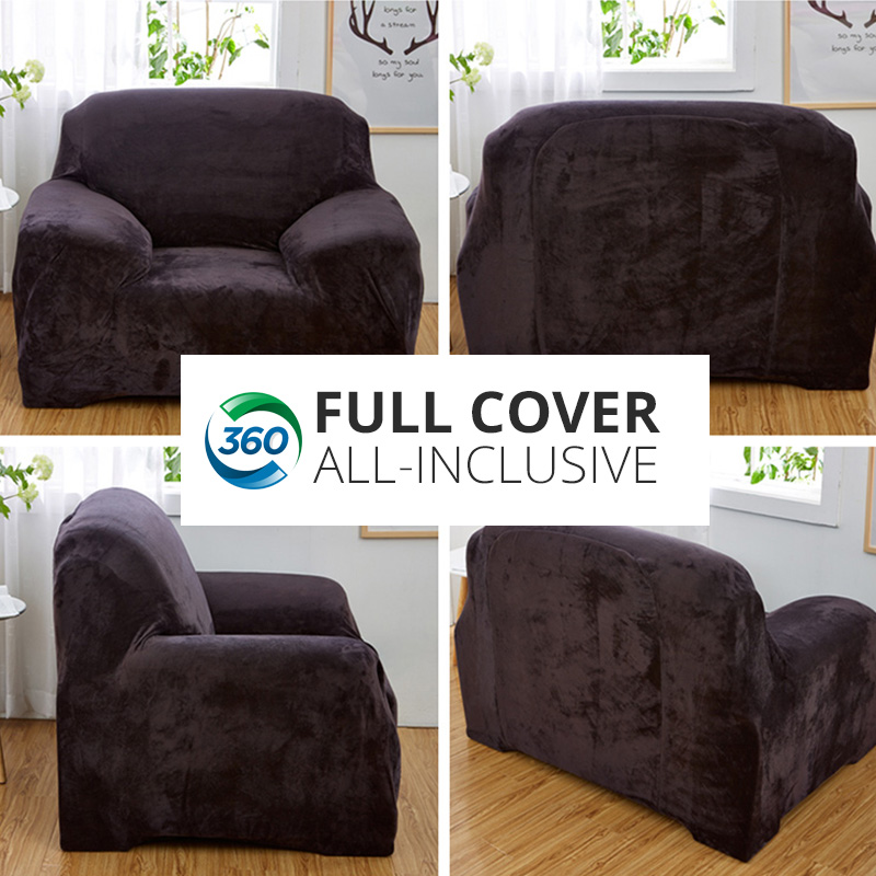 Miraculous Us 23 0 54 Off Super Soft Stretch Thick Plush Sofa Slipcover Couch Armchair Covers Furniture Seater Protector For Winter Spring Use Form Fit In Caraccident5 Cool Chair Designs And Ideas Caraccident5Info