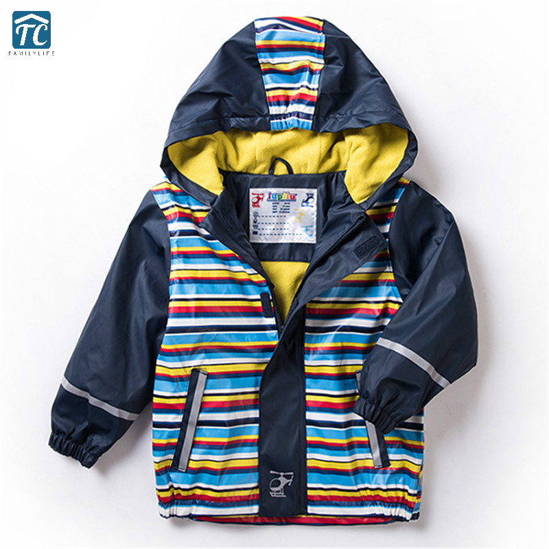 Rainsuit Student Waterproof Windproof Ski Snowsuit Jacket Rain Coat Boys Girls Raincoat Hooded Spring Autumn Rainwear Poncho