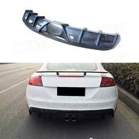 For Audi TT Rear Lip Diffuser Spoiler Carbon Fiber / FRP Bumper Guard 2008 2009 2010 2011 2012 2013 2014 Car Styling