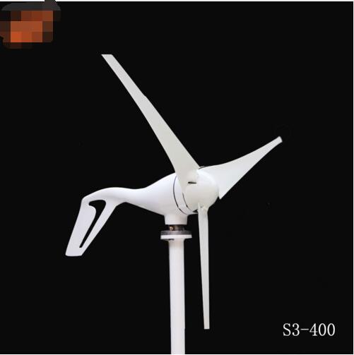 Livraison gratuite 400 W éolienne petit moulin à vent/3 pales éoliennes pour un usage domestique, approbation CE, avec contrôleur IP65