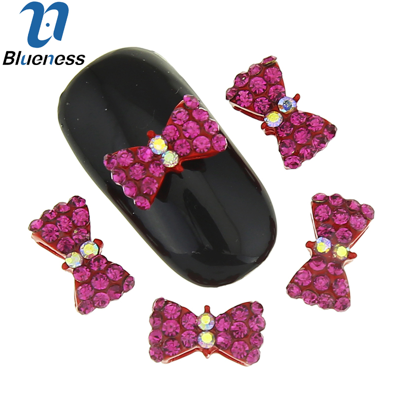 10 Pcs/Lot 3D Nail Crystals Jewelry Manicure Decorations Bow Design Nail Art Rhinestones Decorations Accessories TN1845