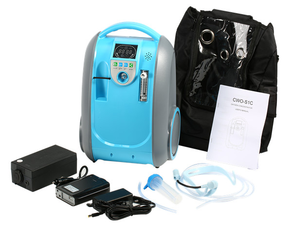 Medical and Health Care Portable Battery Oxygen Concentrator 5L 90% Purity Home Car and Outdoor Travel Recommended O2 Generator