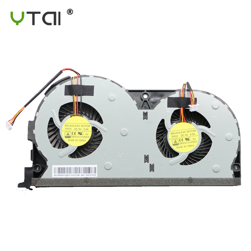 ORIGINAL CPU COOLING FAN FOR Lenovo Y50-70AS Y50-70AM Y50 Y50-<font><b>50</b></font> Y50-70 Y50-70AS-ISE CPU FAN <font><b>COOLER</b></font> DFS501105PQ0T FFGY image