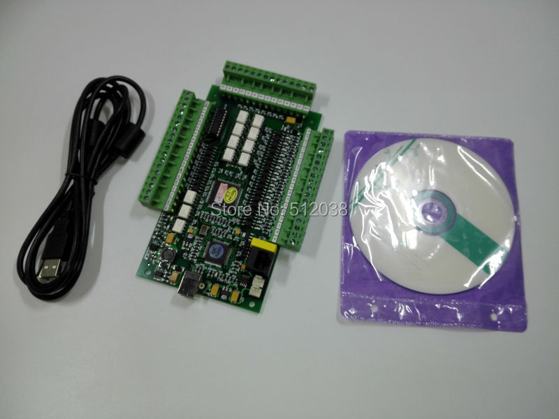 Hi-Speed 4 Axis USB   Mach3 Motion Controller  Card CNC Interface Breakout Board , Pulse up to 1 Mhz 4 axis usb mach3 motion control card four axis breakout interface board for cnc machine