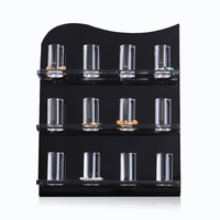 Black And Clear Finger Ring Showcase Display Jewelry Organizer Stand Plexiglass Holder