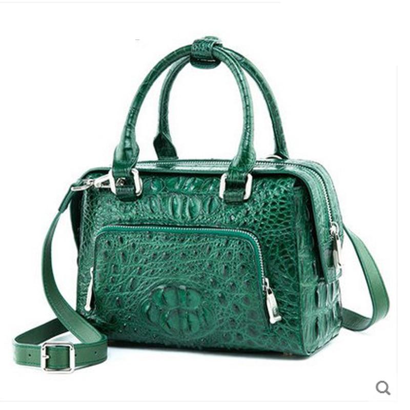 ouluoer new crocodile skin women's handbag with cross-body bag and European style real leather shoulder bag handbag lady bag