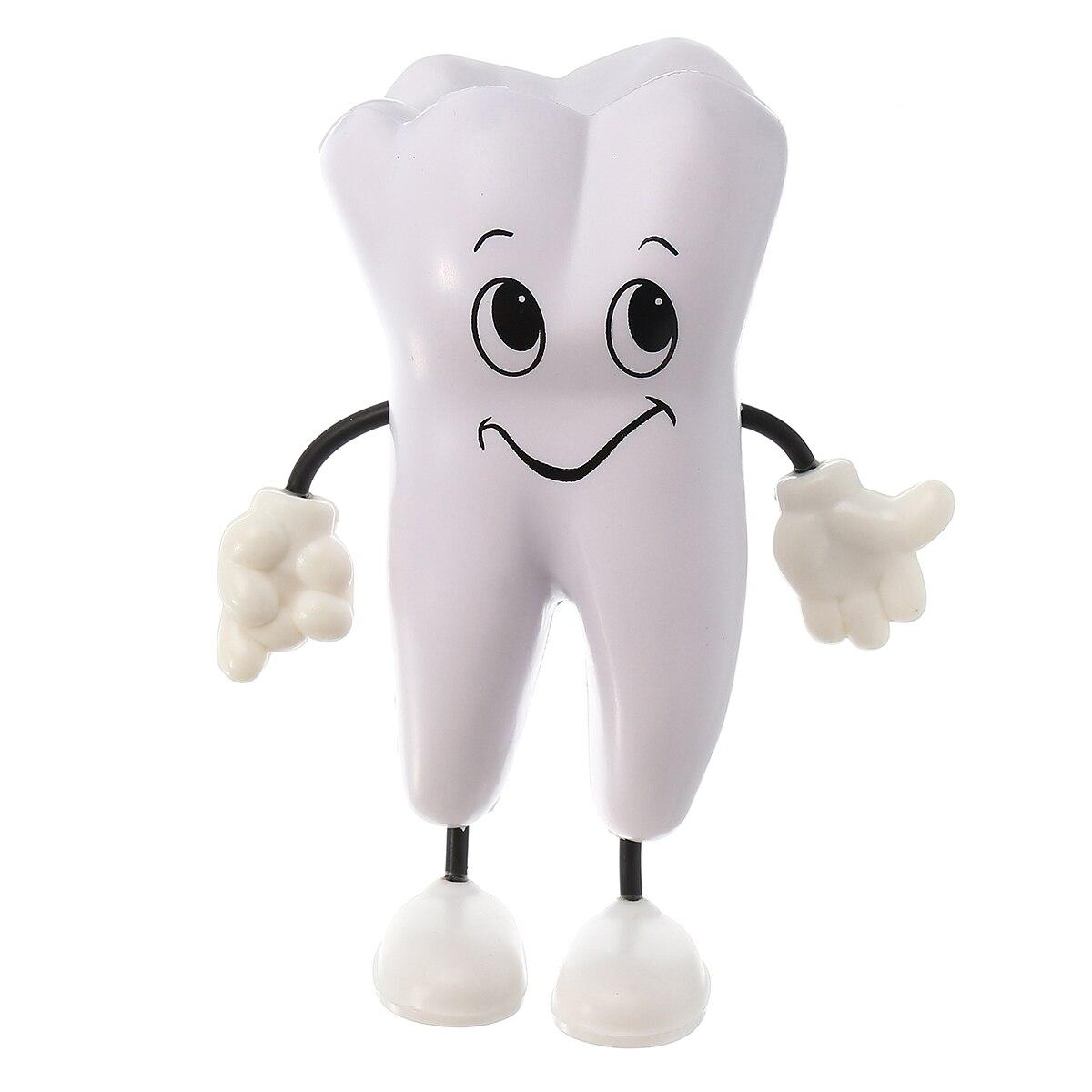 1 Pc Dent-figure Compression Jouet Doux PU Mousse Dent Modèle Forme Kawaii Clinique Dentaire Dentisterie Article Promotionnel Dentiste cadeau