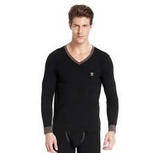 180211/Male/100% cotton thermal underwear V-neck /thick /tight-fitting/Fine workmanship/Quality fabrics