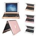 Smart беспроводные Bluetooth Клавиатура с Алюминиевой Защитный Флип Case Обложка для Apple iPad Air 2 iPad 6 iPad Pro 9.7 дюйма Case