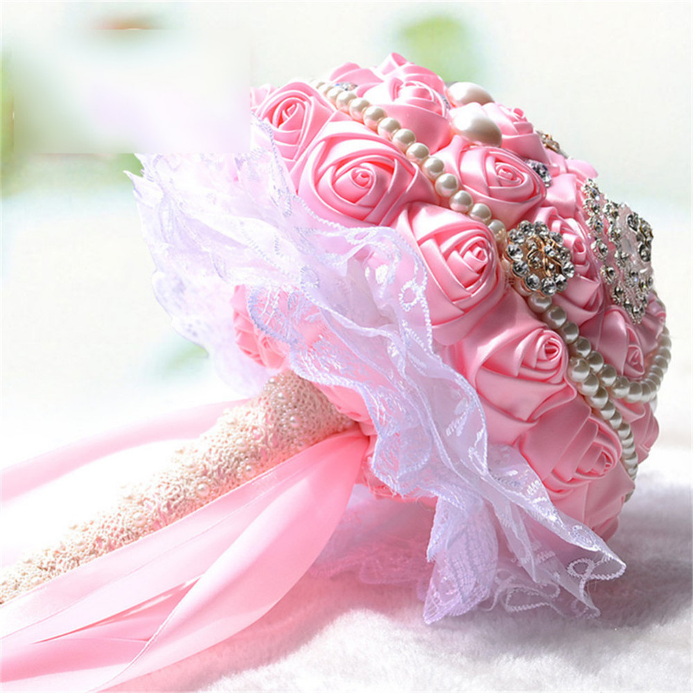 Bride hand held flowers dried flowers hand bouquet bridal bouquets bride hand held flowers dried flowers hand bouquet bridal bouquets silk roses decoration for wedding izmirmasajfo Gallery