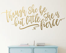 YOYOYU 40 colors Vinyl wall stickersThough She Be But Little,She Is Fierce Removeable Wall Decal Salon Bedroom  Decor ZX240