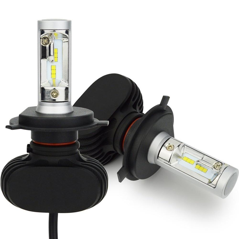 H8 H9 H11 led Car Headlight Bulbs Hi-H4 Lo Beam H7 9005/HB3 9006/HB4 Conversion Kit 50W 8000lm CSP Chips 6500K Auto Headlamp