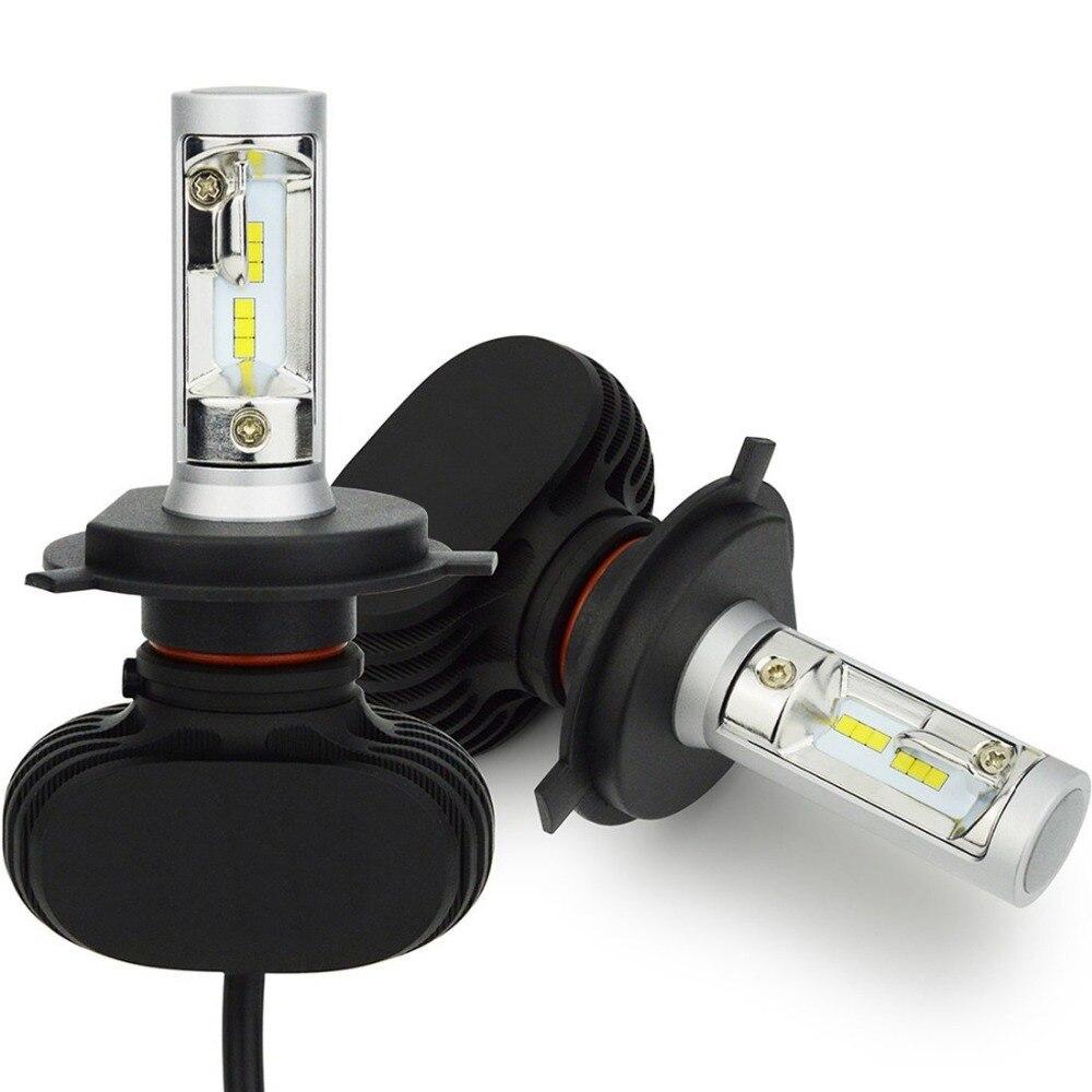 H8 H9 H11 led Phare De Voiture Ampoules Hi-H4 Lo Faisceau H7 9005/HB3 9006/HB4 Kit de Conversion 50 W 8000lm CSP Puces 6500 K Auto Projecteur