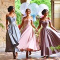 Honey Qiao Bridesmaid Dresses Charming 2017 Off the Shoulder Lace Applique Long A Line Maid Of Honor Dress For Wedding Party