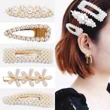 Melhor senhora quente coreano jóias de cabelo simulado pérola pinos de cabelo para mulheres ouro prata cor barrette bonito presentes casamento bobby pinos