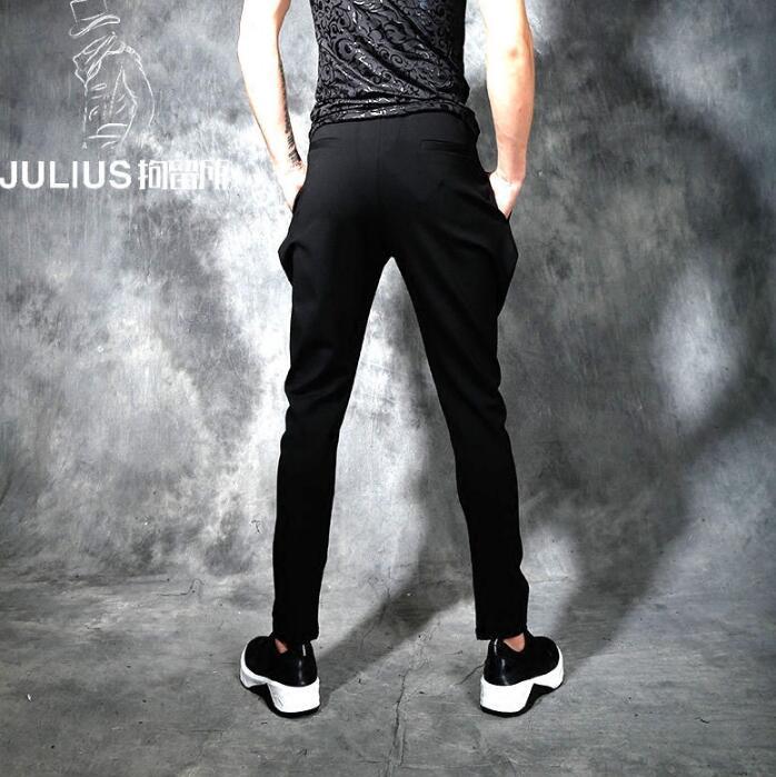 Spring summer personality fashion slim harem pants mens trousers pantalones hombre cargo feet pants for men pantalon homme black