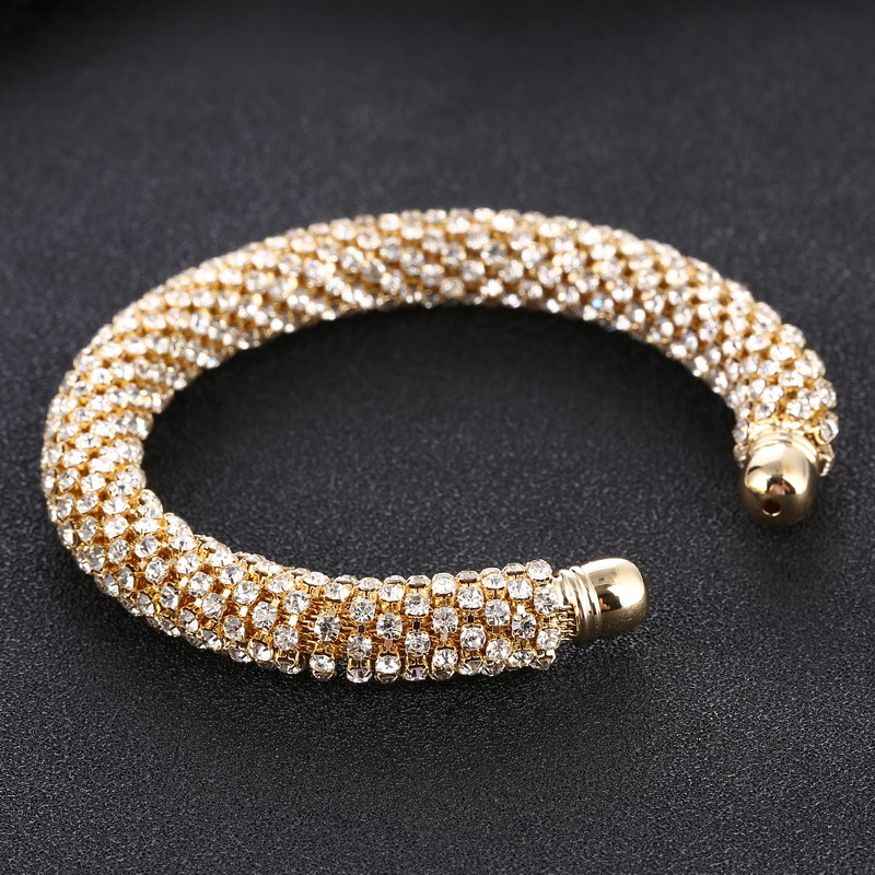 LOVBEAFAS Fashion Luxury Cuff Bracelets & Bangles For Women Crystal Rhinestone Vintage Bracelets Fine Jewelry Accessories 10