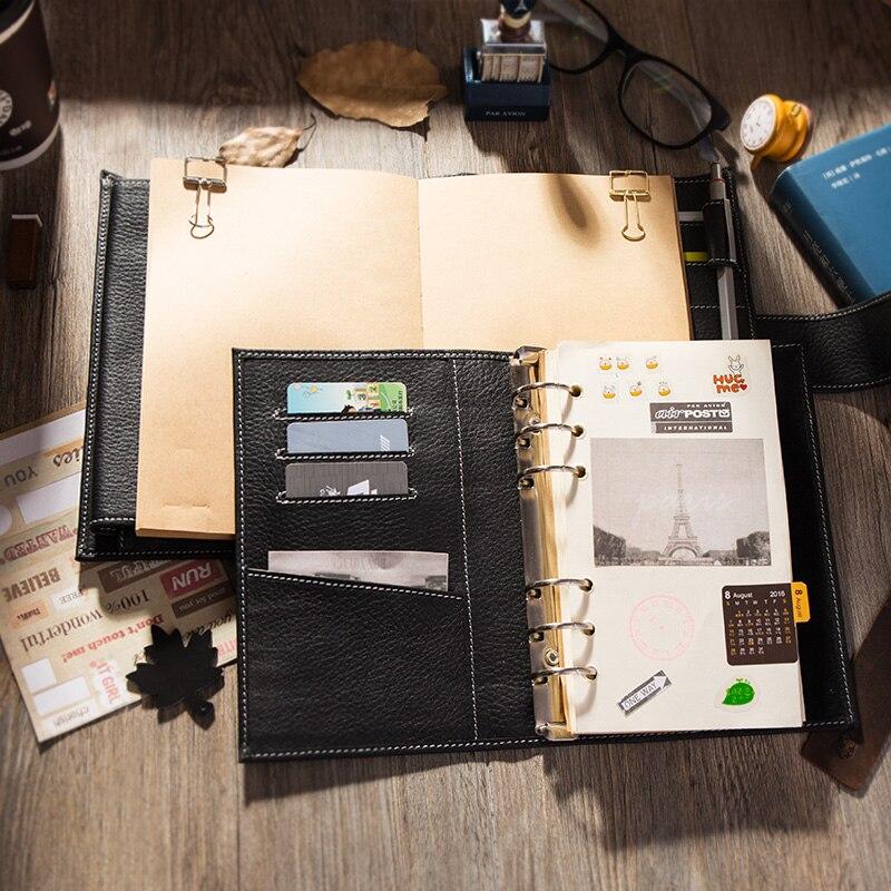 2019 여행 저널 가죽 노트북 바인더 최고의 선물 개인 주최자 일기장 쓰기 A6-에서노트북 컴퓨터부터 사무실 & 학교 용품 의  그룹 2