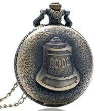 Античный стимпанк ACDC адский колокол кварцевые карманные часы ожерелье с кулоном в ретро-стиле для мужчин и женщин Рождественский подарок PO87478