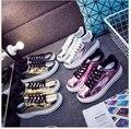 Primavera/verano Casual Zapatos de Mujer brillante plana Zapatos de Mujer de Moda Los Zapatos Planos de los Estudiantes Plataforma 4 color