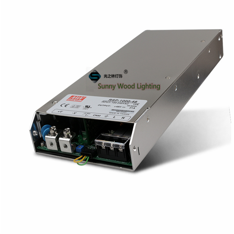 For Monitor ,slim type ,100-240Vac input ,48VDC output power supply ,21A 1000W driver  CE UL RSP-1000-48