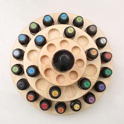 Caja de madera aceites de aromaterapia organizador caja de almacenamiento 39 ranuras tres capas caja de almacenamiento de aceite esencial estante de exhibición
