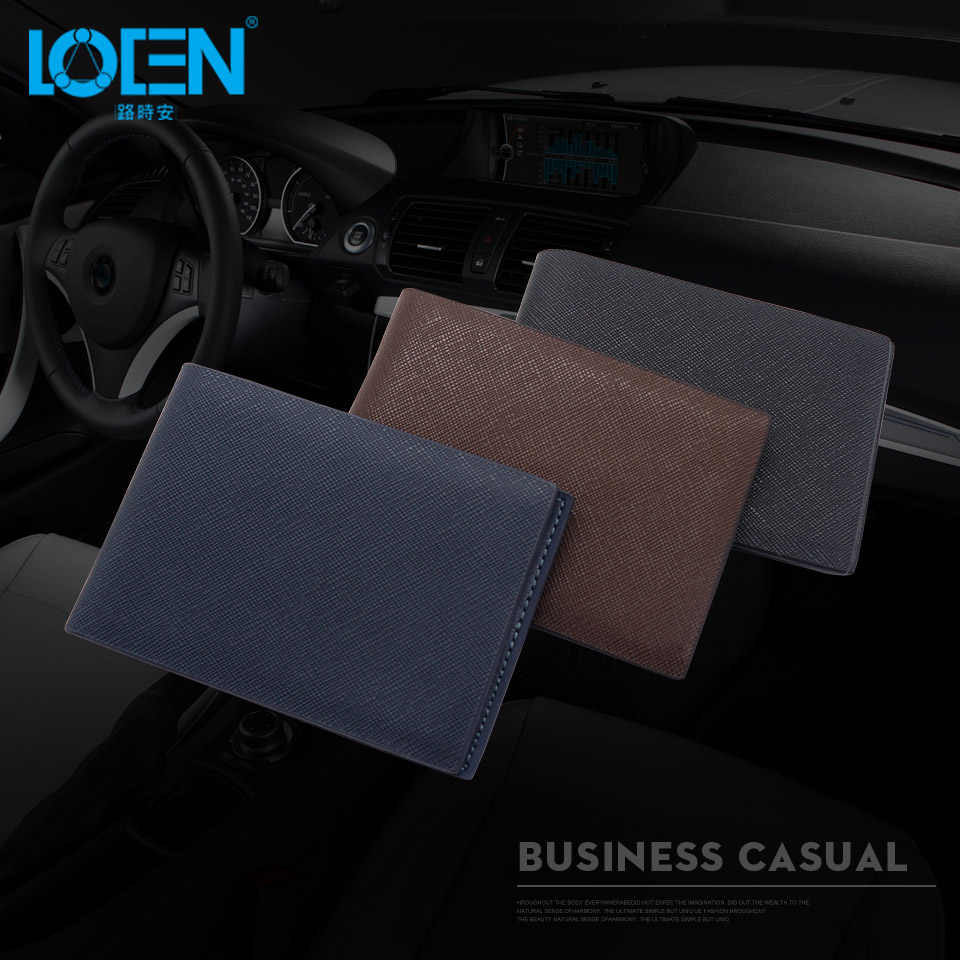 LOEN 1PC Car Driver License Cover Bag Car Driving Documents Leather Auto Card Credit Holder Purse Wallet Case For bmw style