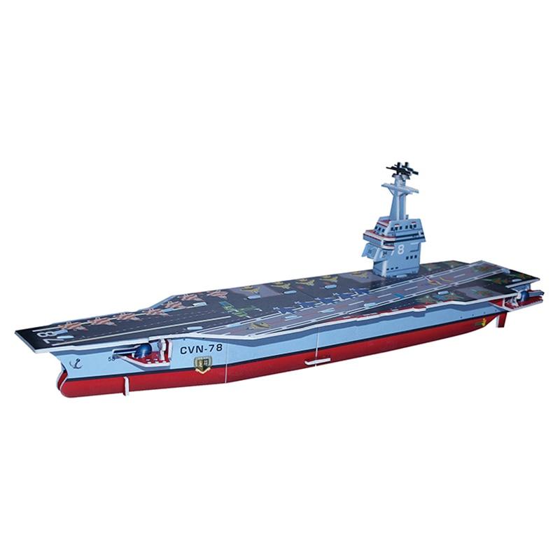 3D Puzzle Safe Foam Model Building Model Building Kits Diy Aircraft Carrier Destroyer Military Toys For Children