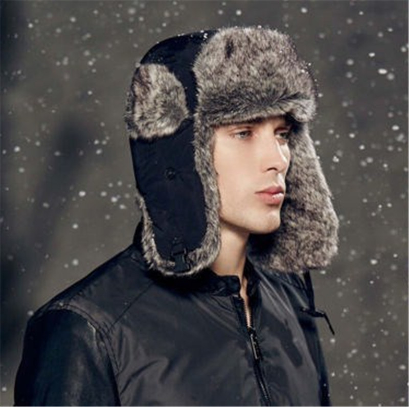 Cap Earflap-Cap Bomber-Hats Ski-Hat Russian-Trapper Snow Winter Women Hot Unisex Warm