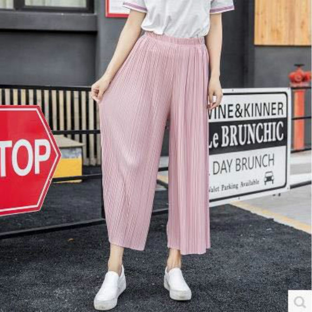Spring Summer Linen Pleated Stretchy Wide Leg Leggings Women High Waist Leggings Loose Thin Section Wide Range Leg Leggings Kor