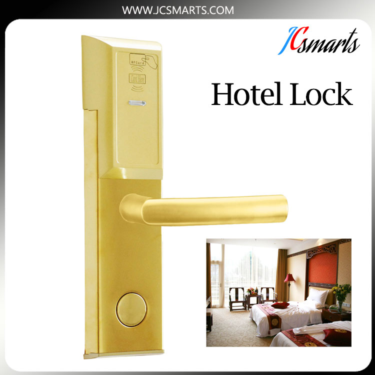 Most Popular Digital hotel RFID card door lock keyless door lock smart e-lock with free software lachco card hotel lock digital smart electronic rfid card for office apartment hotel room home latch with deadbolt l16058bs