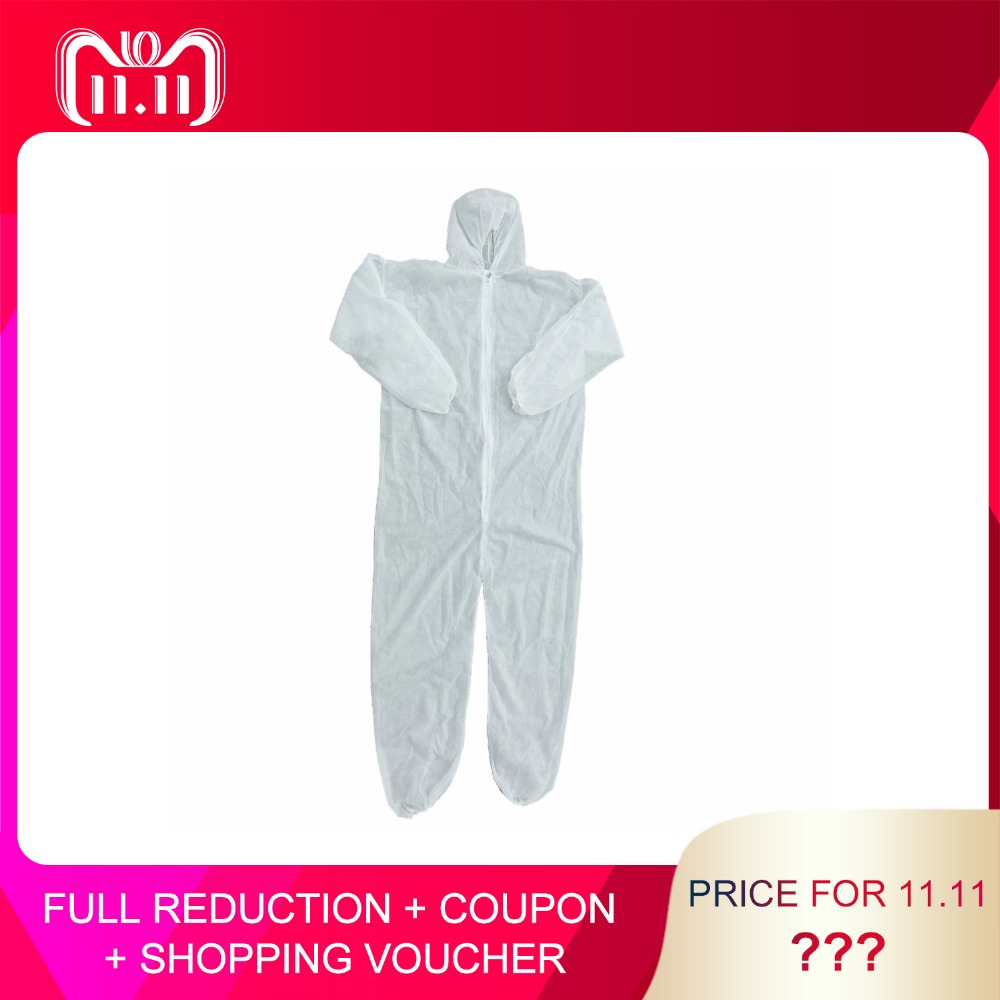 Disposable Coveralls Dust-proof Clothes Man Isolation Clothes White Labour Suit Universal Nonwovens Security Protection Clothing цены