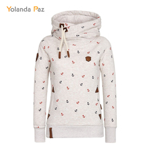 Yolanda Paz Women Pullover Hoodies Harajuku Autumn Winter Warm Sweatshirt