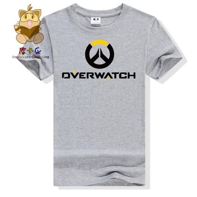 Hot gamer tee shirt gift for boyfriend OW LOGO t shirt watch over men's tee shirt ac258