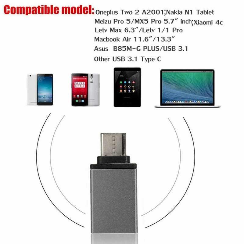 Алюминиевый USB 3,1 type C штекер USB 3,0 A женский мобильный кабель адаптер конвертер для Macbook xiaomi mi4c mi5 mi 5S mi 5C mi 5 5c 5S