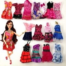 2016 New Beautiful Handmade Party Clothes Fashion Dress for Noble Barbie Doll , free shipping Mixed style 10 things bb81 oem
