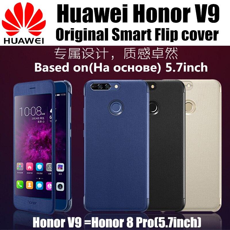 bilder für Honor v9 fall ursprüngliche 100% von huawei unternehmen luxus leder smart flip-cover funda magnet zu auto wake up-schlaf Honor 8 Pro