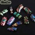 BlueZoo 24 шт./упак. Mix Дизайн Нерегулярные Битое Стекло Оболочки Клей 3D Ногтей Наклейки Маникюр DIY Красочные Аврора Ногтей Наклейки