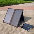 PowerGreen Dobrável Mini Painel Solar, 14 Watts Duas Portas do Sistema De Energia Solar, powerbank bateria carregador para xiaomi telefone para lg
