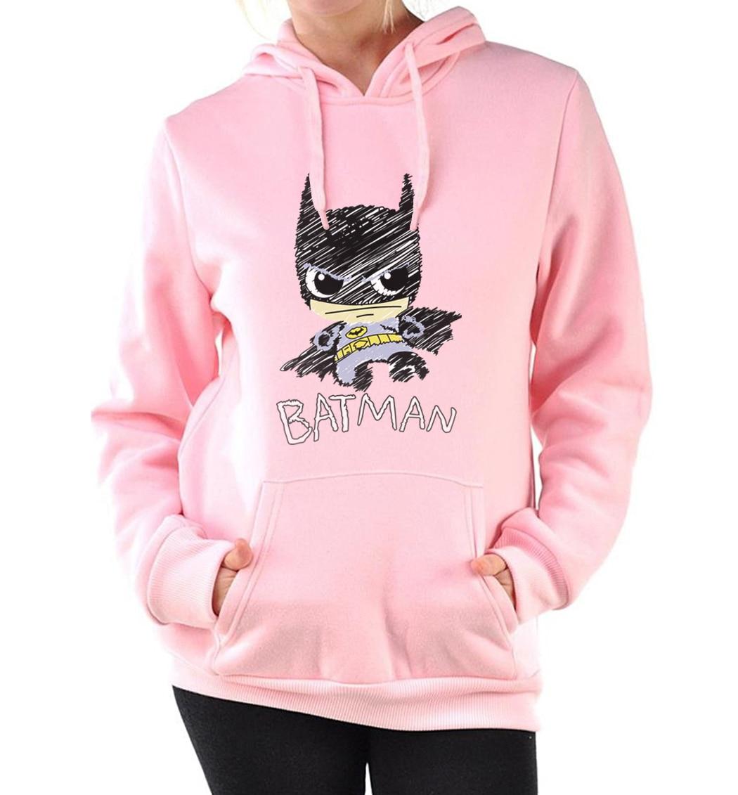 fashion fall winter fleece style sweatshirts Cartoon  women's hoodies femme 2019 harajuku hooded black pink top pullovers