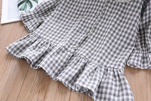 Image 5 - Humor Bear 2019 Children Clothes Spring & Autum Girls Dress Brand New Plaid Doll Collar Long Full Sleeves Princess Party Dress