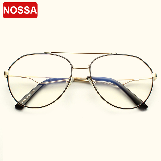 447cd6ff94 NOSSA Brand Designer Optical Glasses Frames Trendy Korea Style Women Men  Eyeglasses Elegant Male Female Metal